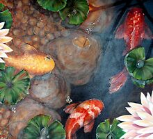 Lazy days koi by Jeni Maxwell