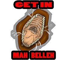 Get In Mah Belleh Brown Photographic Print