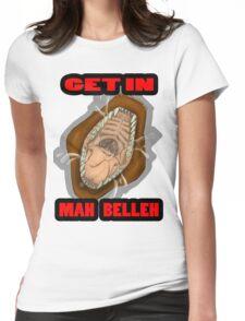 Get In Mah Belleh Brown Womens Fitted T-Shirt