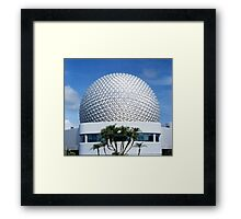 Retro Epcot Ball as seen in 1982 Framed Print