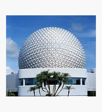 Retro Epcot Ball as seen in 1982 Photographic Print