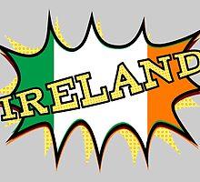 """""""KA-POW"""" Irish Flag by piedaydesigns"""