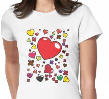 Hugs & Kisses Womens Fitted T-Shirt