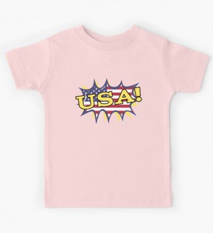 USA POW flag starburst Kids Tee