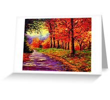 Connecticut Evening Maples Greeting Card