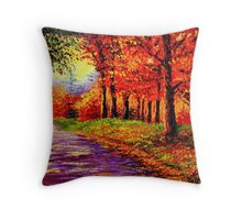 Connecticut Evening Maples Throw Pillow