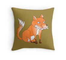 Cartoon Fox Throw Pillow