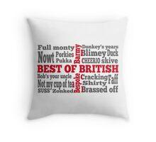 English slang on the St George's Cross flag Throw Pillow