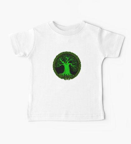 Celtic Tree (Green version) Baby Tee