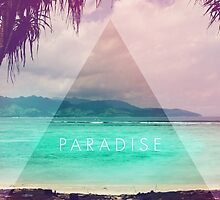 Paradise // Hipster triangle beach photo faded retro by hocapontas