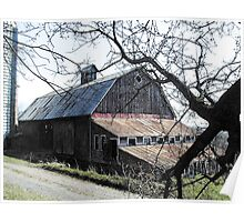 Working Farm Barn in Central Minnesota Poster