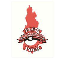 Elite Four Champion Flame Art Print