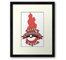Elite Four Champion Flame Framed Print