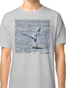 Great Blue Heron Departing Classic T-Shirt