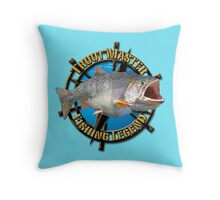 Trout master  Throw Pillow