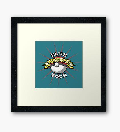 Elite Four Champion Framed Print