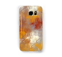 Abstract in Butterscotch, Gray, and Red Samsung Galaxy Case/Skin