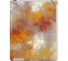 Abstract in Butterscotch, Gray, and Red iPad Case/Skin