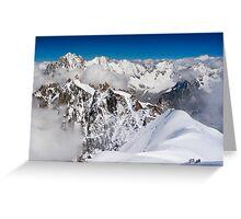 Mt Blanc Massif Greeting Card