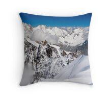 Mt Blanc Massif Throw Pillow