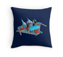 Daft Invaders Throw Pillow