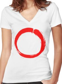 Enso Women's Fitted V-Neck T-Shirt