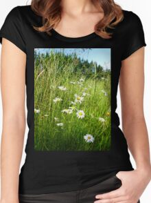 Wild Daisies and Grasses Women's Fitted Scoop T-Shirt