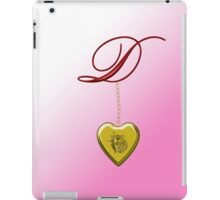 D Golden Heart Locket iPad Case/Skin