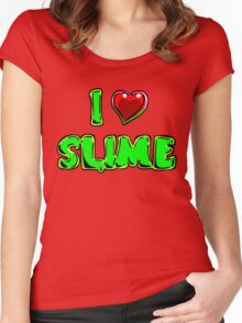I Heart Slime! Women's Fitted Scoop T-Shirt