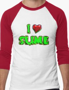 I Heart Slime! Men's Baseball ¾ T-Shirt
