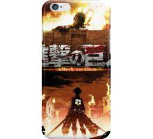 Attack on Titan - Colossal Titan Standoff  iPhone Case/Skin