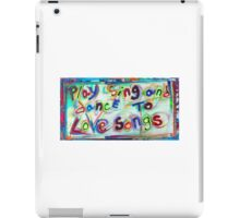 Love Songs iPad Case/Skin