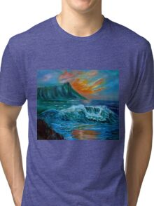 Diamond Head Seascape Tri-blend T-Shirt
