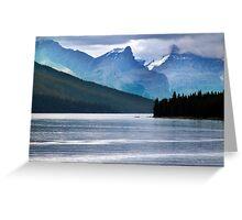 Lake Maligne-Canoes Greeting Card