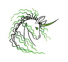 Ki-Rin (Japanese Unicorn) - Green by Jennifer Doneske