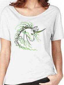 Ki-Rin (Japanese Unicorn) - Green Women's Relaxed Fit T-Shirt