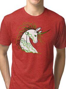 Ki-Rin (Japanese Unicorn) - Green Tri-blend T-Shirt
