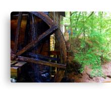 The Grist Mill Wheel at Hurricane Shoals Metal Print