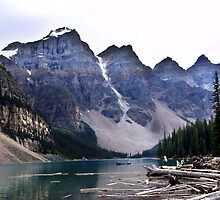 Evening at Moraine Lake by Jann Ashworth
