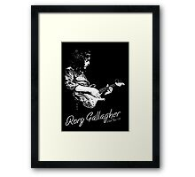 Rory Gallagher Irish tour 74 Framed Print