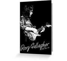 Rory Gallagher Irish tour 74 Greeting Card