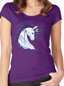 Ki-Rin (Japanese Unicorn) - Blue Women's Fitted Scoop T-Shirt
