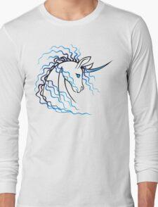 Ki-Rin (Japanese Unicorn) - Blue Long Sleeve T-Shirt