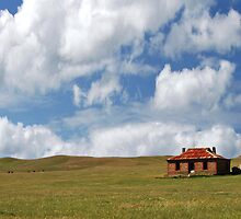 Pioneer Farmhouse Panorama, Burra, South Australia by Adrian Paul
