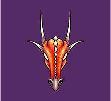 Baphomet Draconis - Red by Jennifer Doneske