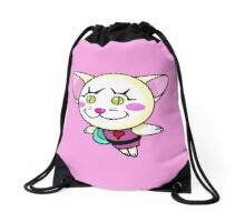 Kitty Pow Pow: Pink Pow Pow Drawstring Bag