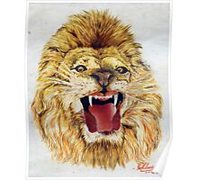 A Lion ... a water colour.. 1952... Poster