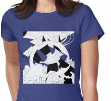 Robot Lunch Womens Fitted T-Shirt
