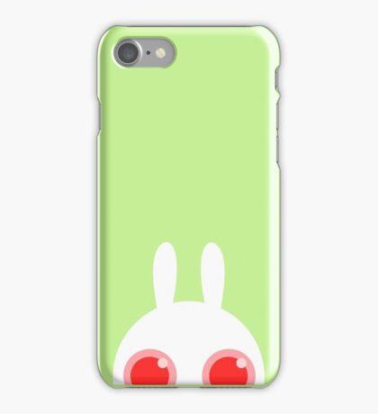 White bunny no background iPhone Case/Skin