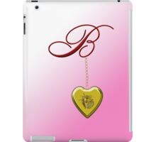 B Golden Heart Locket iPad Case/Skin